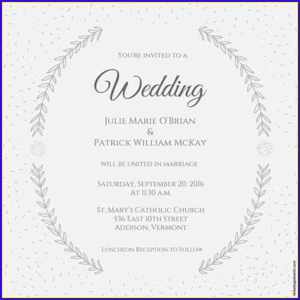 Wedding Invitation Templates In Word