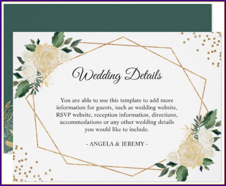 Wedding Reception Card Template