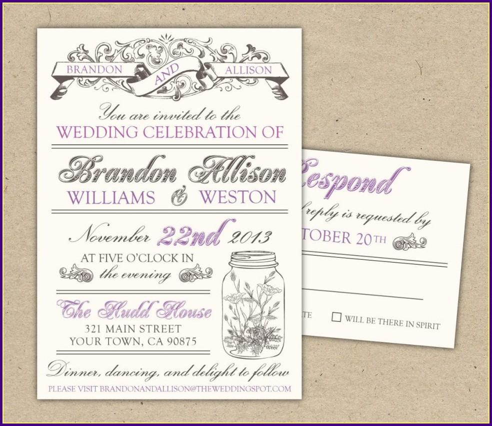 Wedding Reception Invitation Templates Free Download