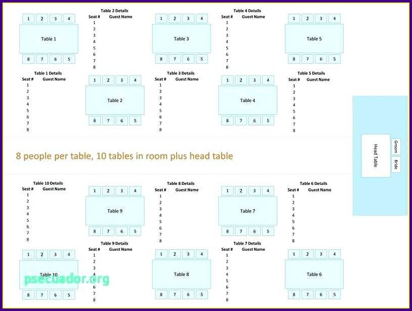 Wedding Reception Table Layout Template Templates 1 Resume Examples