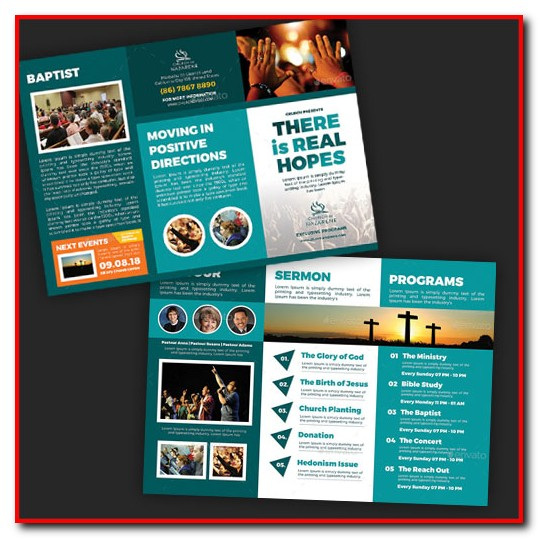 Church Tri Fold Brochure Template Free
