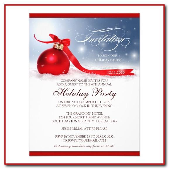 Company Christmas Party Invitation Template