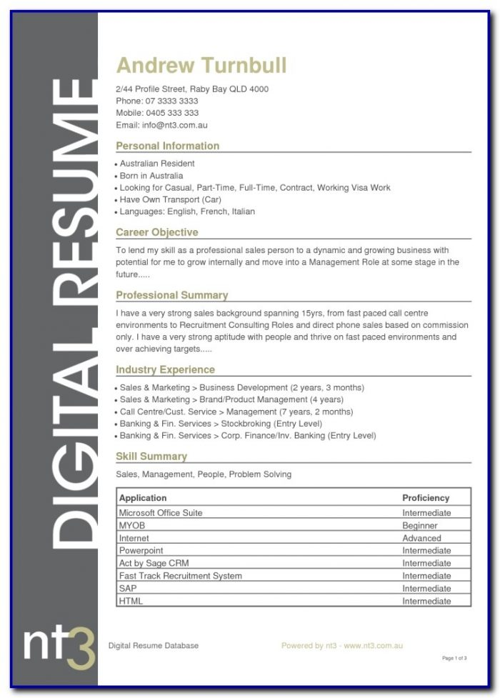 Best Resume Sample Australia Www.buzznow.tk Resume Template Australia 2017