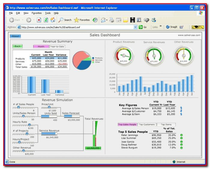 Excel Dashboard Templates Xls