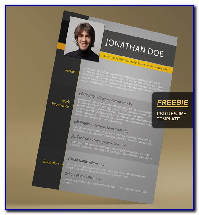 Free Awesome Resume Templates Microsoft Word