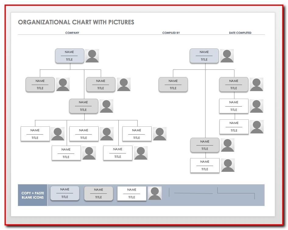 Free Organizational Chart Template Download