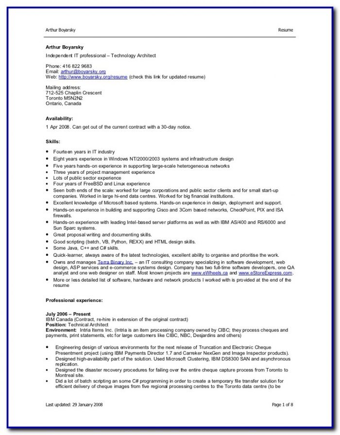 Free Professional Resume Templates Microsoft Word 2007