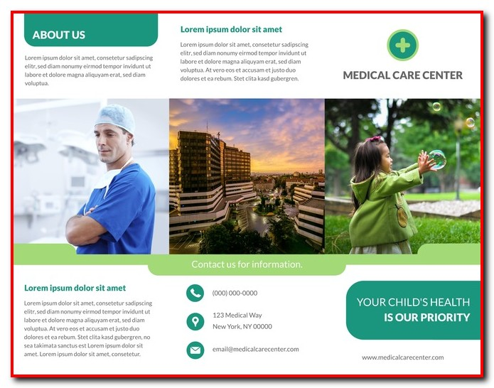 Free Tri Fold Medical Brochure Template