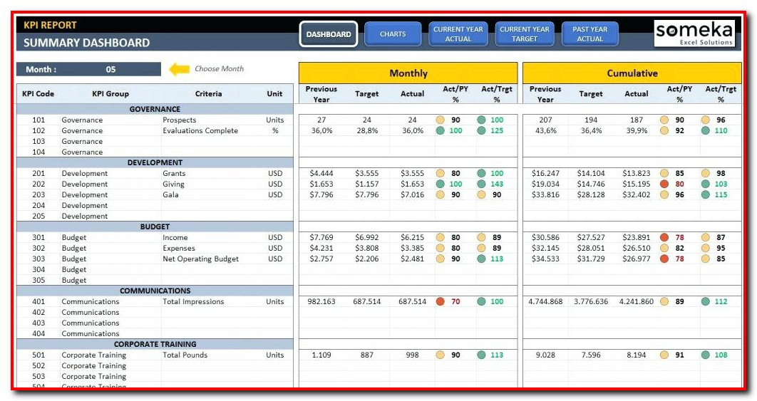 Professional Excel Dashboard Templates