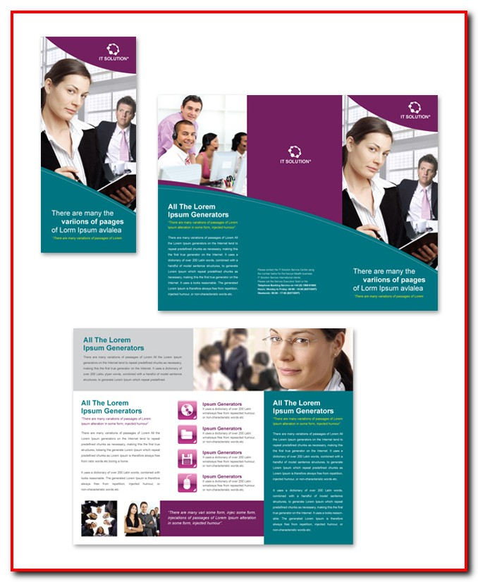 Tri Fold Brochure Template Free Publisher