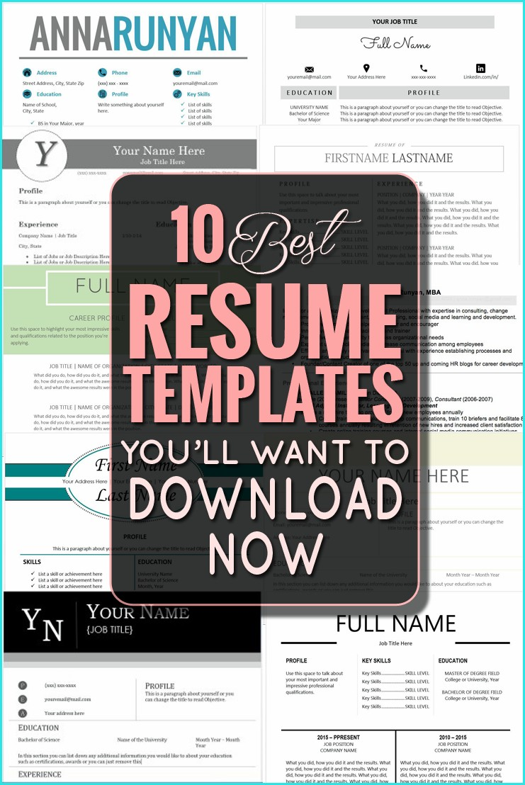 Best Site To Download Resume Templates
