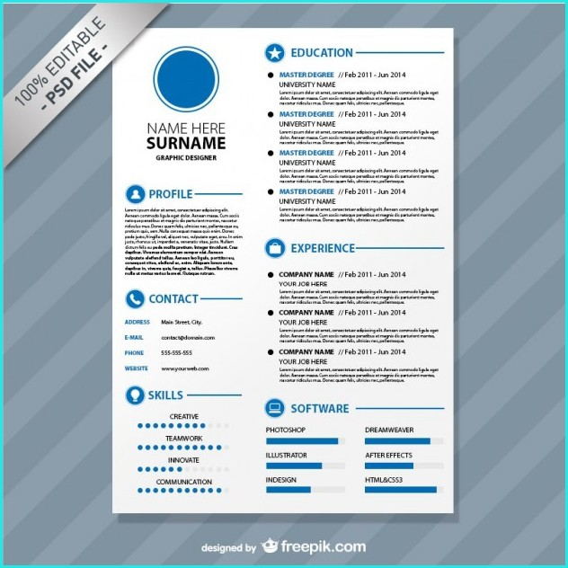 Download Editable Resume Templates
