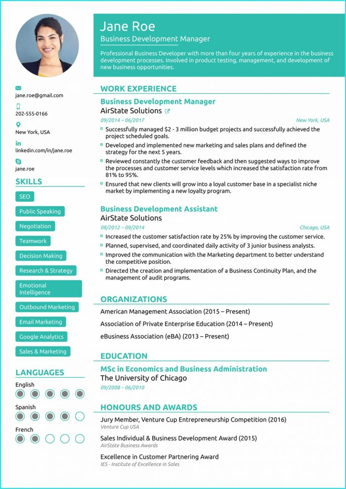 Download Resume Templates 2018