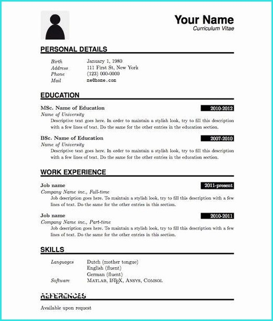 Download Resume Templates Pdf