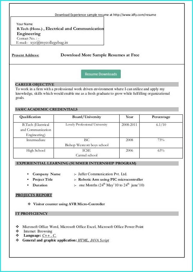 How To Download Resume Templates In Microsoft Word 2010 1