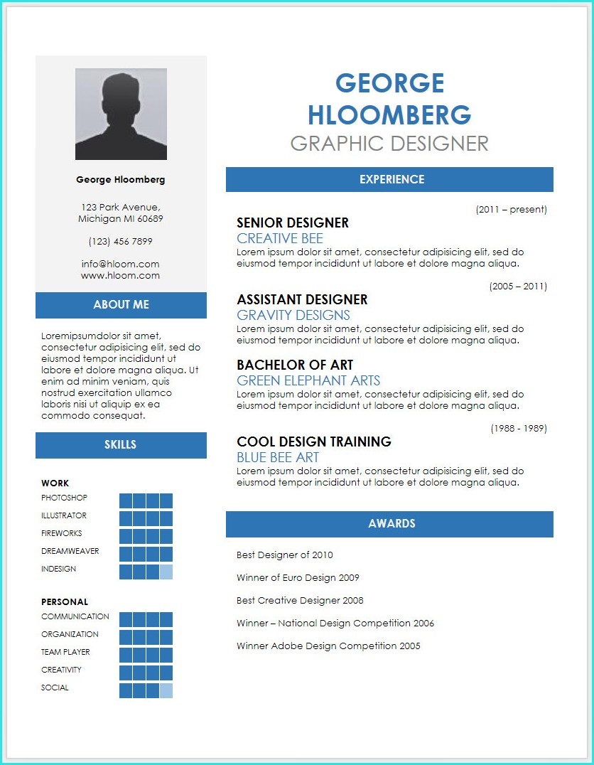 Resume Templates Free Download Google Docs