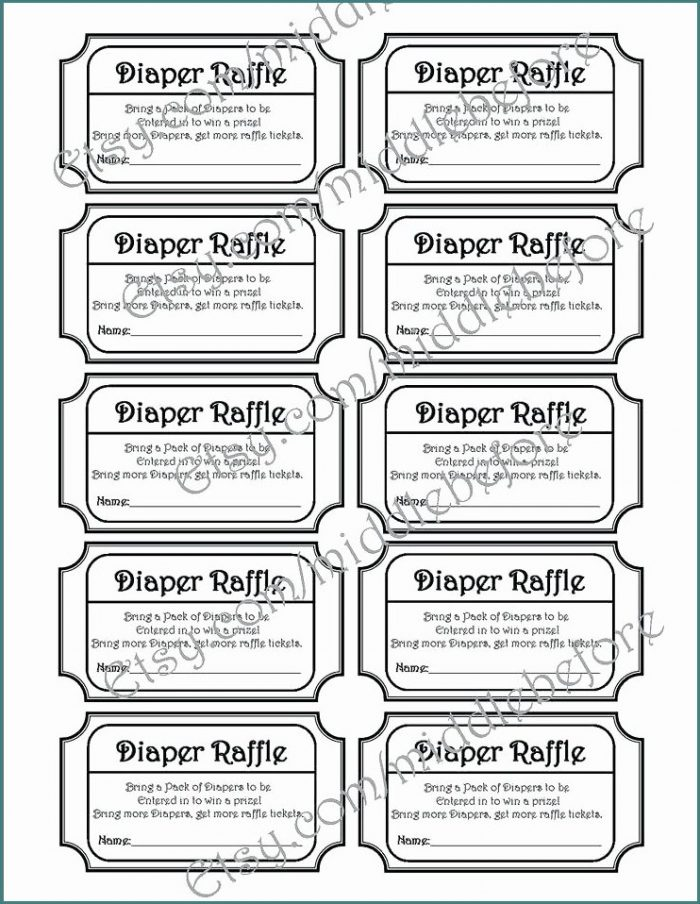 Baby Shower Raffle Ticket Template Free