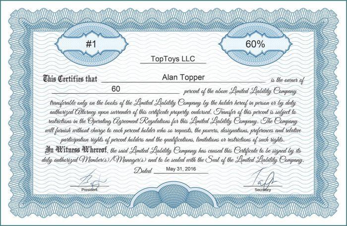 Common Stock Certificate Template