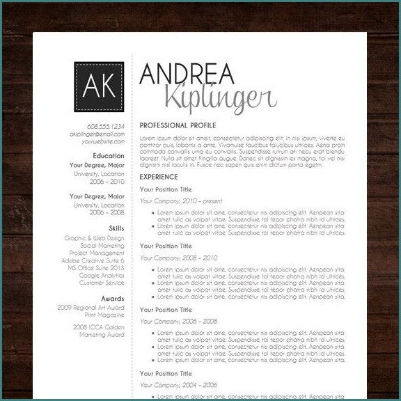Free Modern Professional Resume Templates