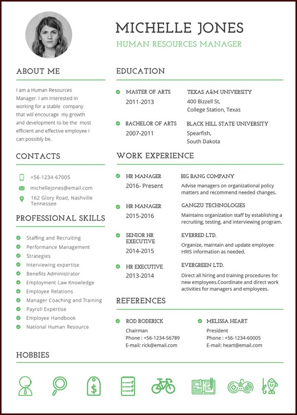 Free Professional Resume Templates Word