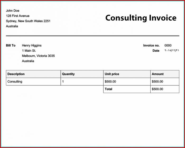 Free Invoice Template Online