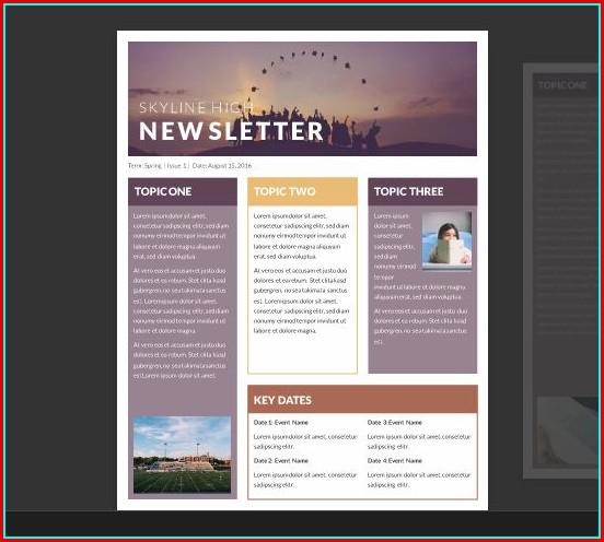 Free Newsletter Templates Microsoft Word