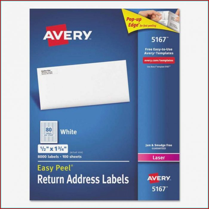 Free Return Address Label Template 80 Per Sheet