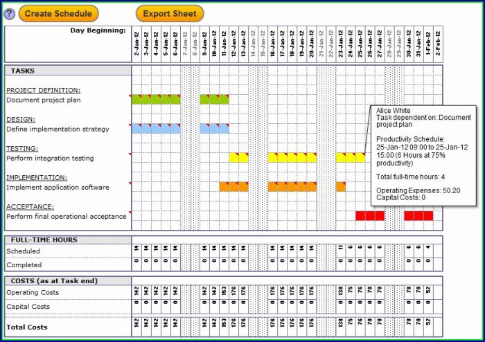 Gantt Chart Template Word Free Download
