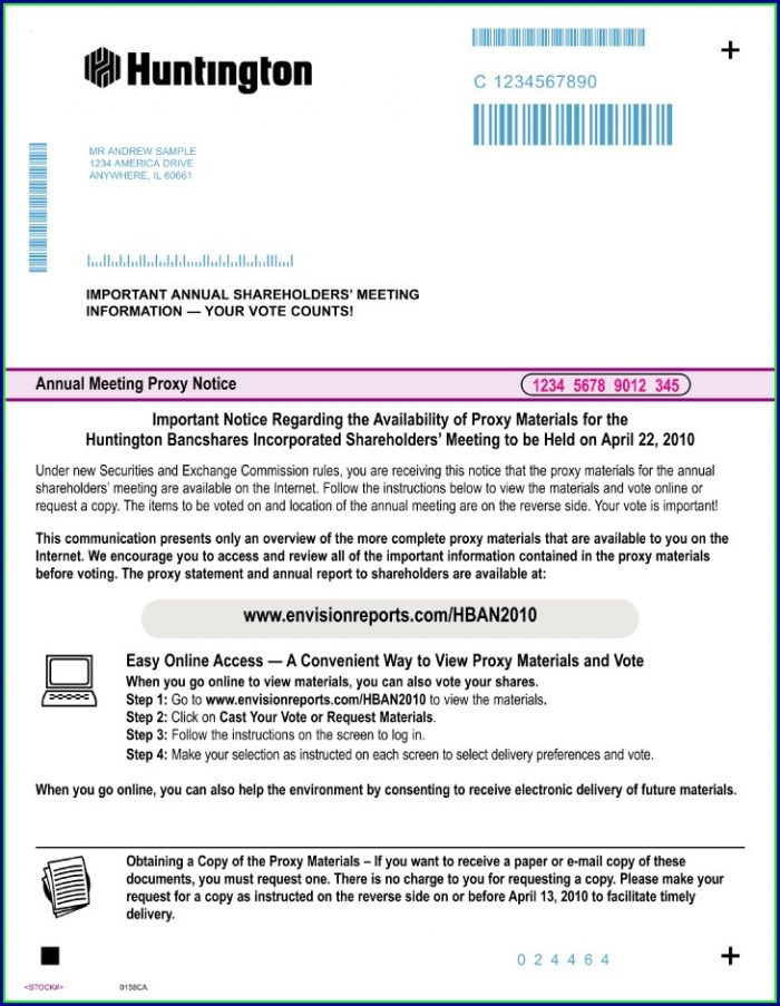 Huntington Bank Statement Template