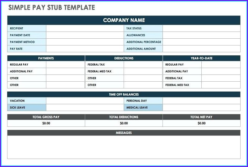 Pay Stub Maker Template