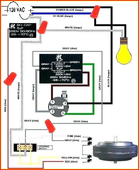 Ceiling Fan 4 Wire Switch Wiring Diagram