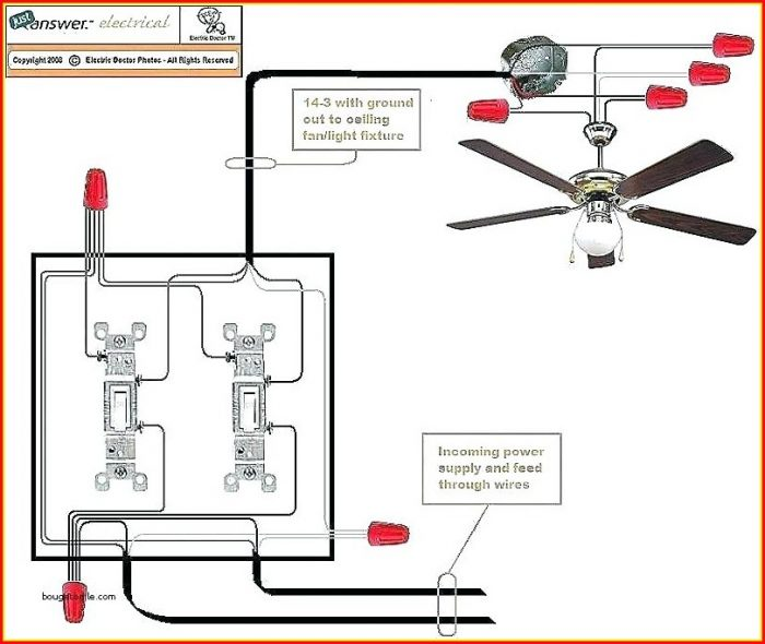 Ceiling Fan Wiring Diagram 2 Switches