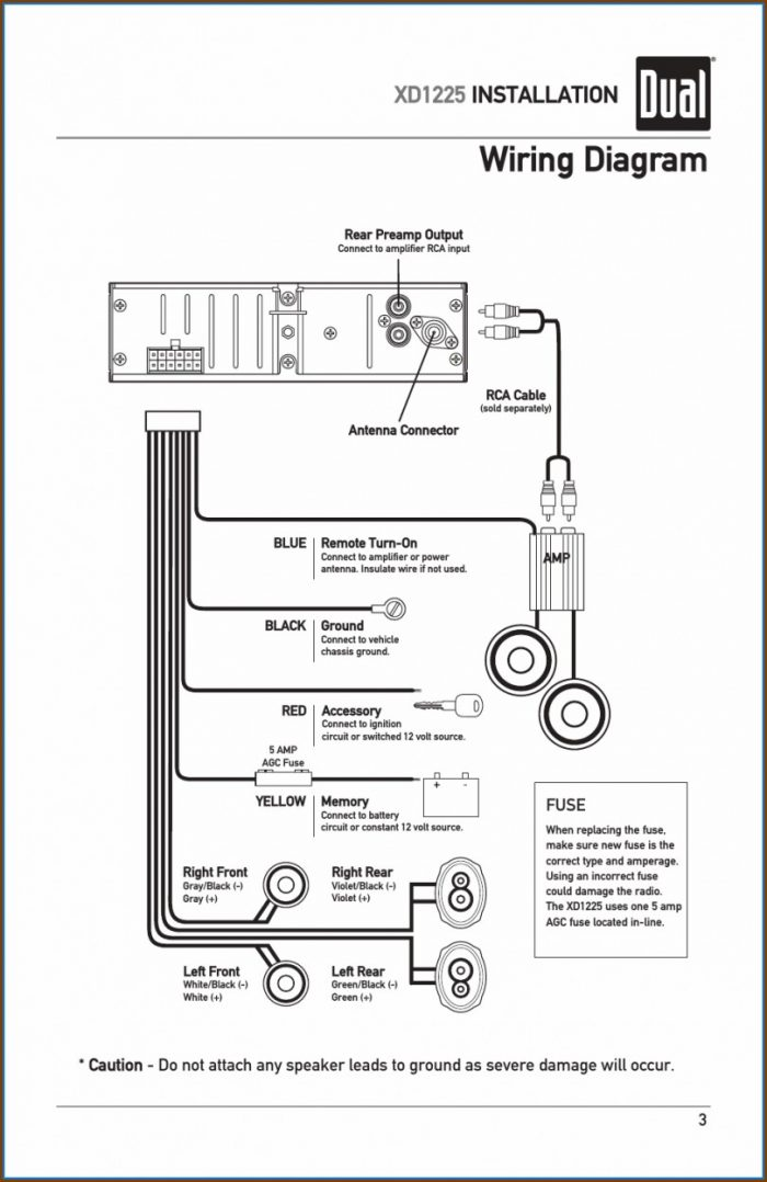 Dual Car Stereo Wiring Diagram
