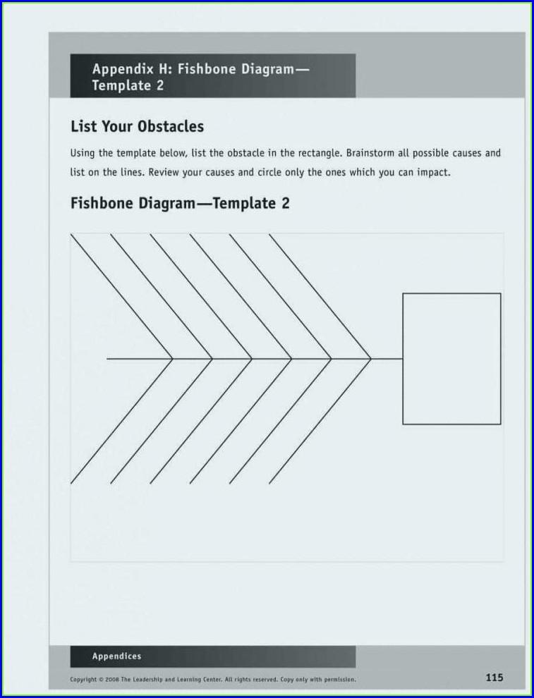 Sample Fishbone Diagram Template