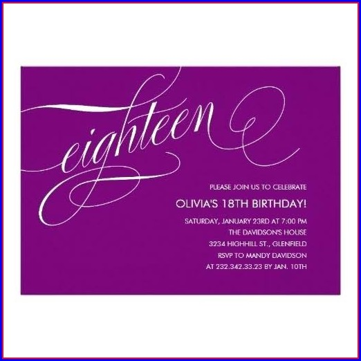 18 Birthday Invitation Templates Free