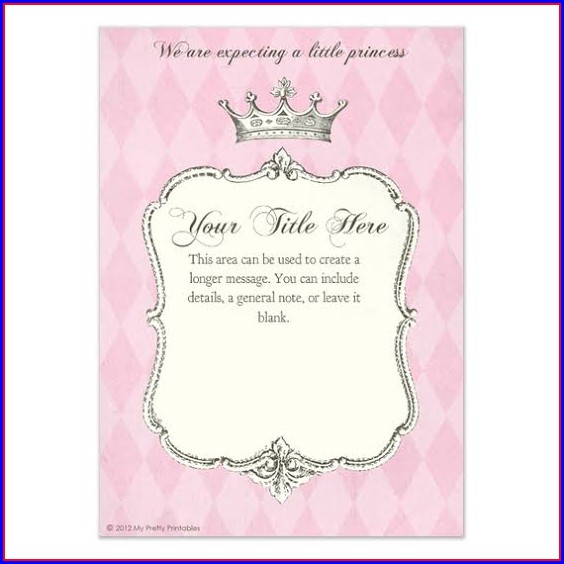 Blank Disney Princess Invitation Template