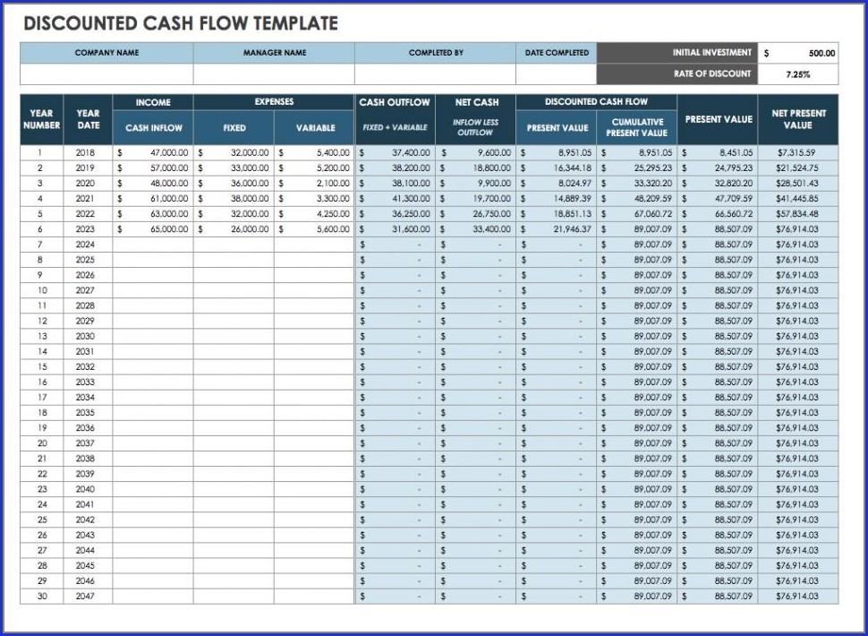 Construction Project Cash Flow Template Excel