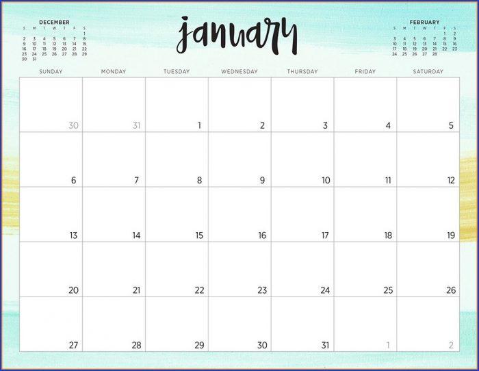 Desk Calendar Template 2019 Free