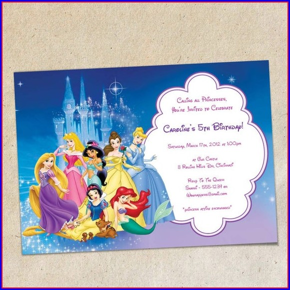 Disney Princess Invitation Template Hd