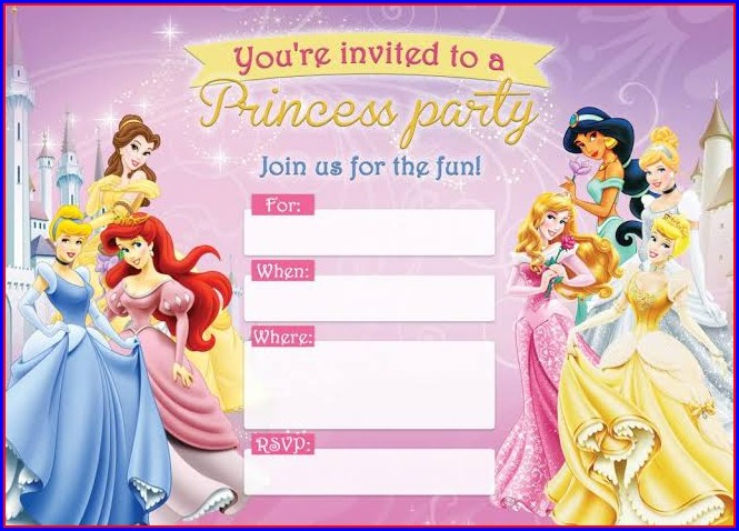Disney Princess Invitation Template