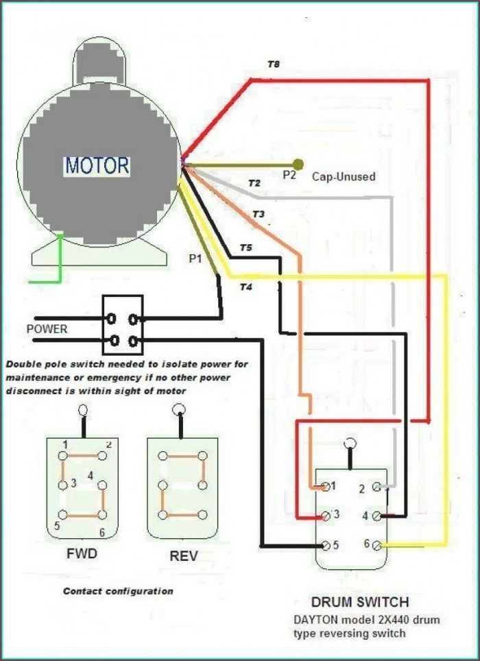 Electric Motor Wiring Diagram 3 Phase