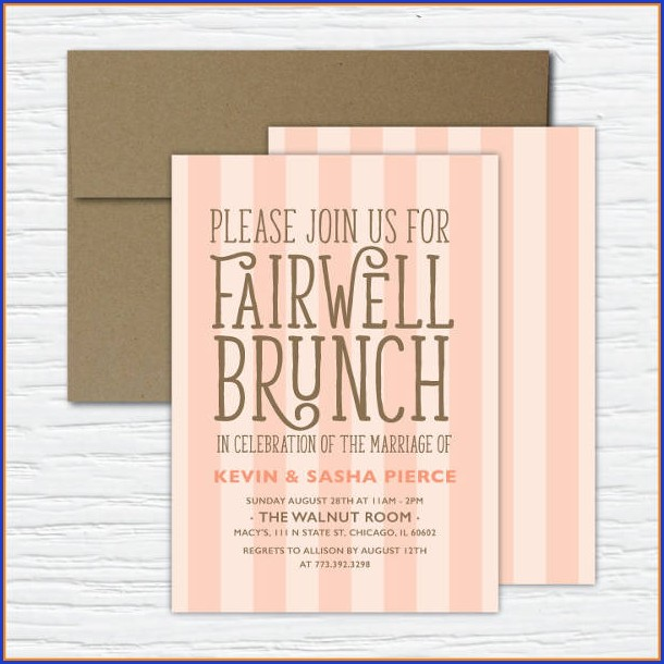 Farewell Lunch Invitation Template Free