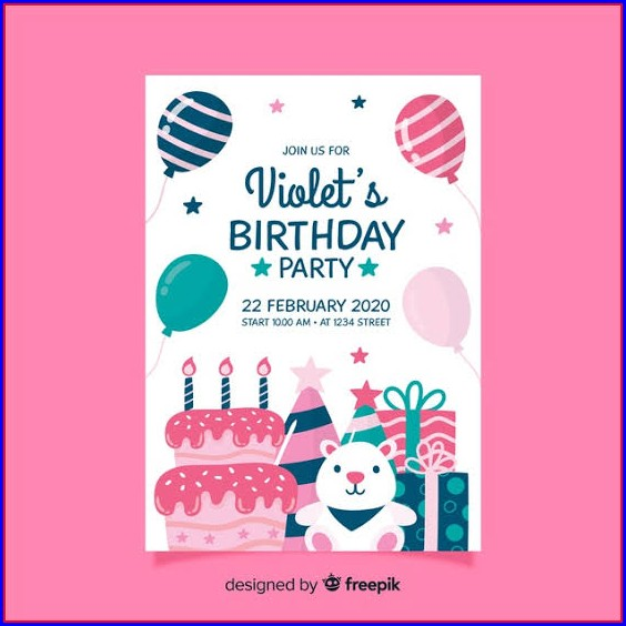 First Birthday Invitation Card Template Free Download