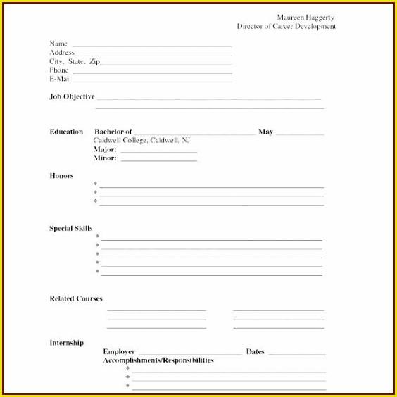Free Blank Resume Templates 2019