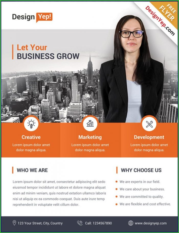 Free Business Flyers Templates Download