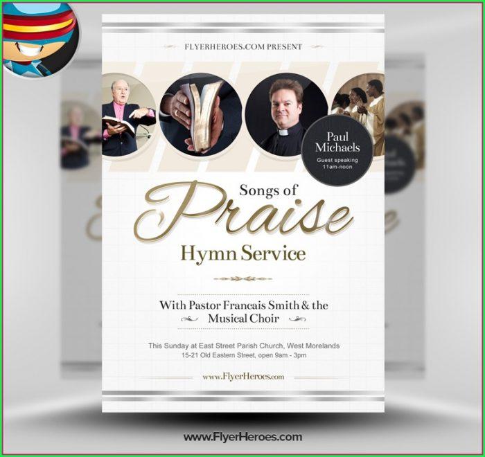 Free Church Flyer Template Psd