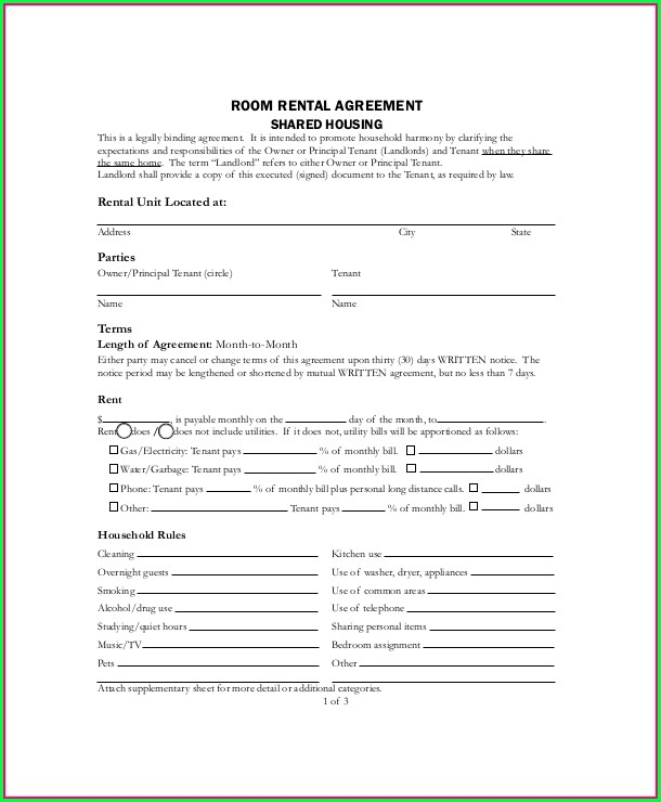 Housing Lease Agreement Template