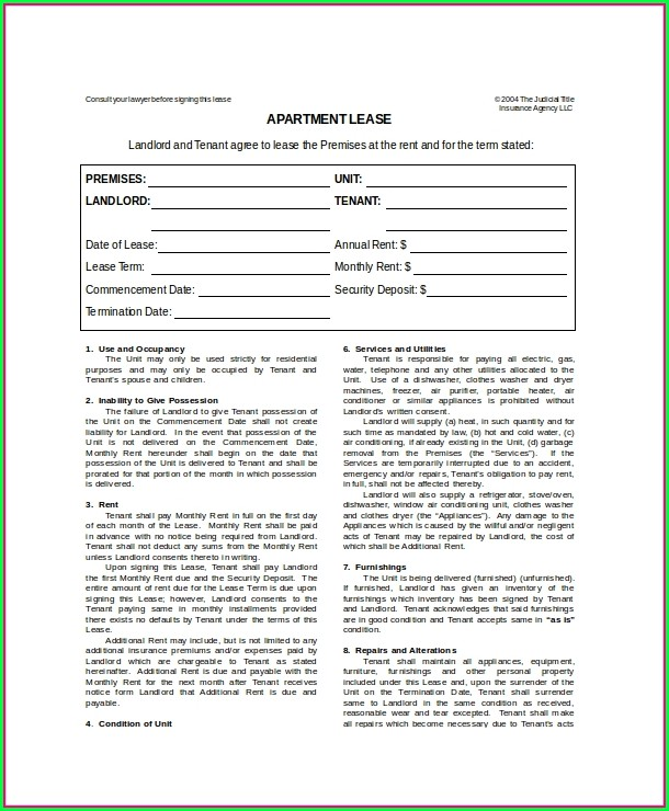 Housing Lease Template Free