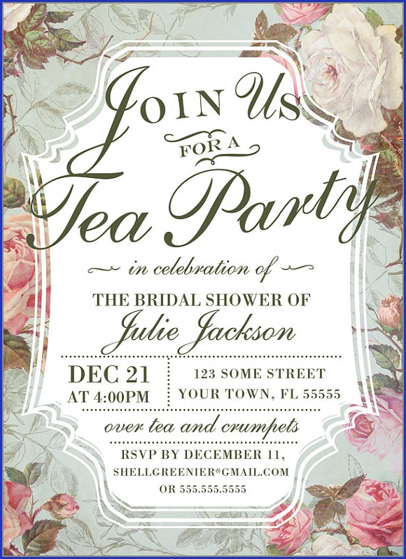 Kitchen Tea Party Invitation Templates
