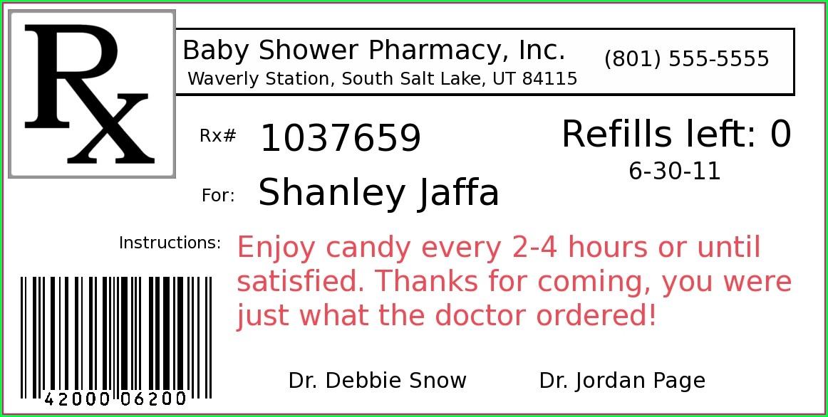 Prescription Pill Bottle Label Template
